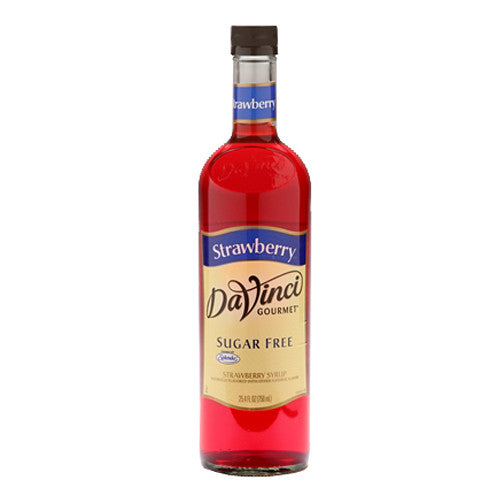DaVinci Sugar Free Strawberry Syrup (750mL) - CustomPaperCup.com Branded Restaurant Supplies