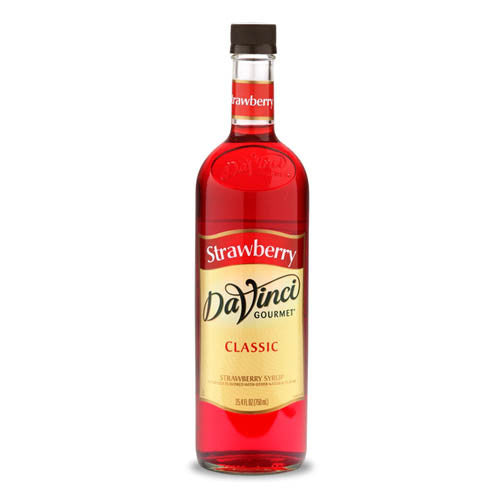 DaVinci Classic Strawberry Syrup (750mL) - CustomPaperCup.com Branded Restaurant Supplies
