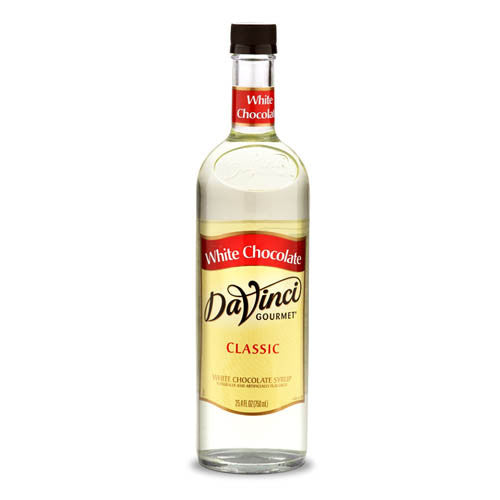 DaVinci Classic White Chocolate Syrup (750mL) - CustomPaperCup.com Branded Restaurant Supplies