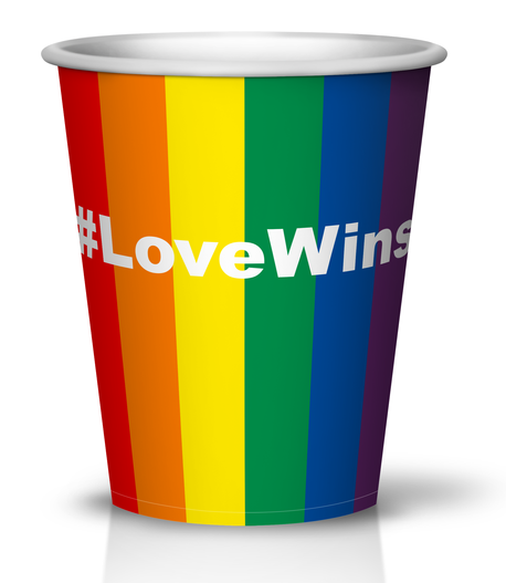 8oz #LoveWins Paper Hot Cup 500ct - CustomPaperCup.com Branded Restaurant Supplies