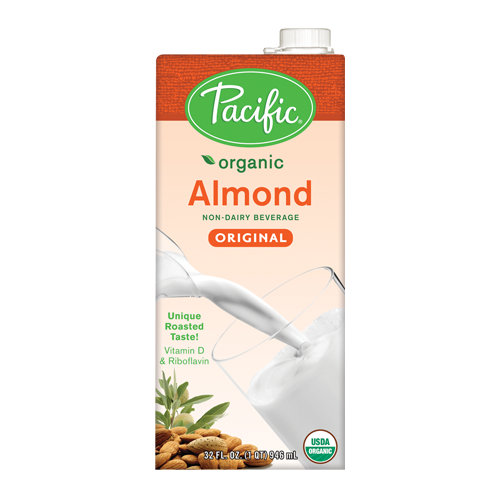 Pacific Organic Almond Original Non-Dairy Beverage (32oz) - CustomPaperCup.com Branded Restaurant Supplies