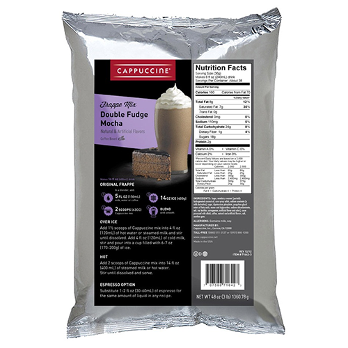 Cappuccine Double Fudge Mocha Frappe Mix (3 lbs) - CustomPaperCup.com Branded Restaurant Supplies