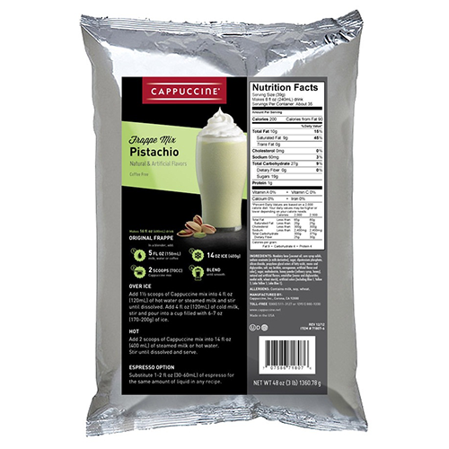 Cappuccine Pistachio Frappe Mix (3 lbs) - CustomPaperCup.com Branded Restaurant Supplies