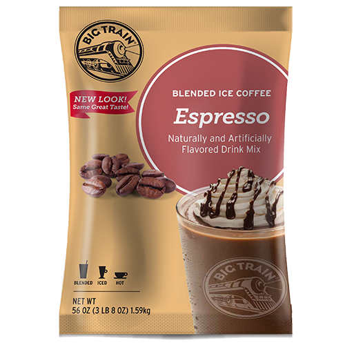 Big Train Espresso Blended Ice Coffee Mix (3.5 lbs) - CustomPaperCup.com Branded Restaurant Supplies