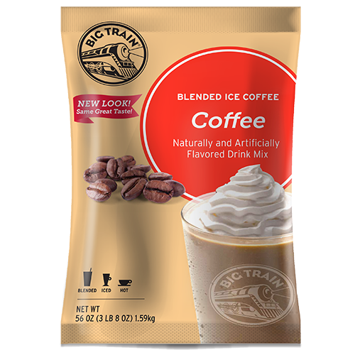 Big Train Coffee Blended Ice Coffee Mix (3.5 lbs) - CustomPaperCup.com Branded Restaurant Supplies