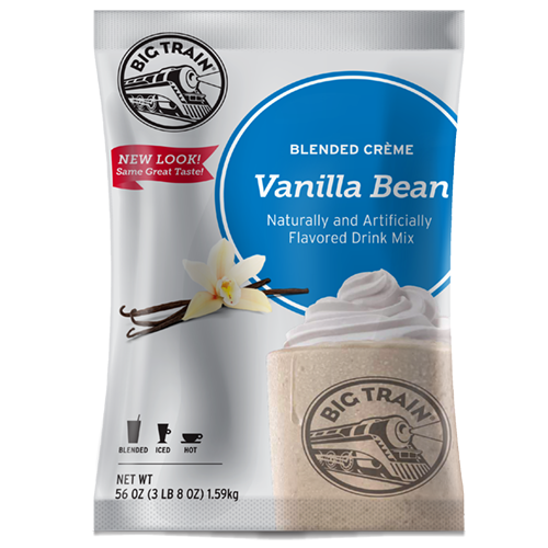 Big Train Vanilla Bean Blended Crème Frappé Mix (3.5 lbs) - CustomPaperCup.com Branded Restaurant Supplies
