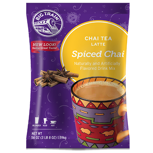 Big Train Spiced Chai Tea Latte Mix (3.5 lbs) - CustomPaperCup.com Branded Restaurant Supplies