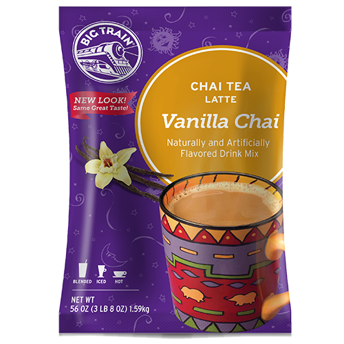 Big Train Vanilla Chai Tea Latte Mix (3.5 lbs) - CustomPaperCup.com Branded Restaurant Supplies