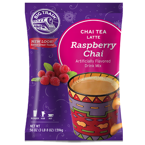 Big Train Raspberry Chai Tea Latte Mix (3.5 lbs) - CustomPaperCup.com Branded Restaurant Supplies
