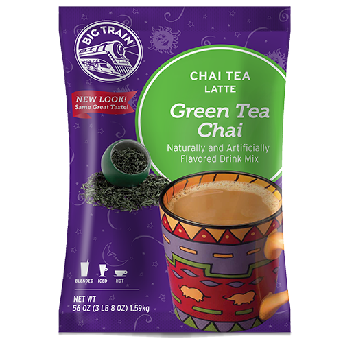 Big Train Green Tea Chai Tea Latte Mix (3.5 lbs) - CustomPaperCup.com Branded Restaurant Supplies