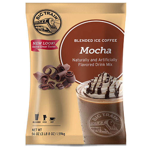 Big Train Mocha Blended Ice Coffee Mix (3.5 lbs) - CustomPaperCup.com Branded Restaurant Supplies