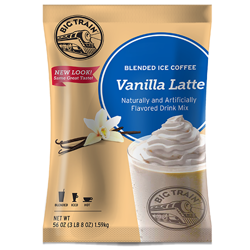 Big Train Vanilla Latte Blended Ice Coffee Mix (3.5 lbs) - CustomPaperCup.com Branded Restaurant Supplies