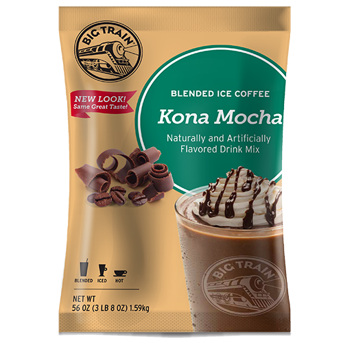 Big Train Kona Mocha Blended Ice Coffee Mix (3.5 lbs) - CustomPaperCup.com Branded Restaurant Supplies