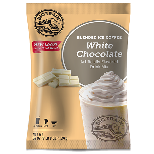 Big Train White Chocolate Latte Blended Ice Coffee Mix (3.5 lbs) - CustomPaperCup.com Branded Restaurant Supplies