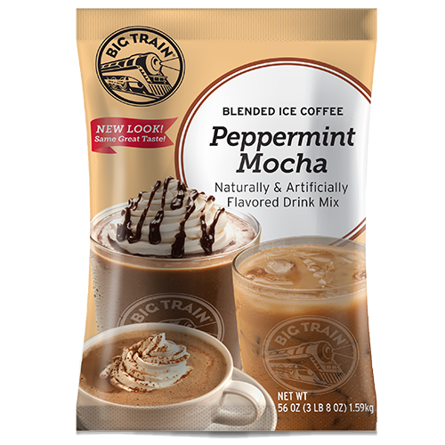 Big Train Peppermint Mocha Blended Ice Coffee Mix (3.5 lbs) - CustomPaperCup.com Branded Restaurant Supplies