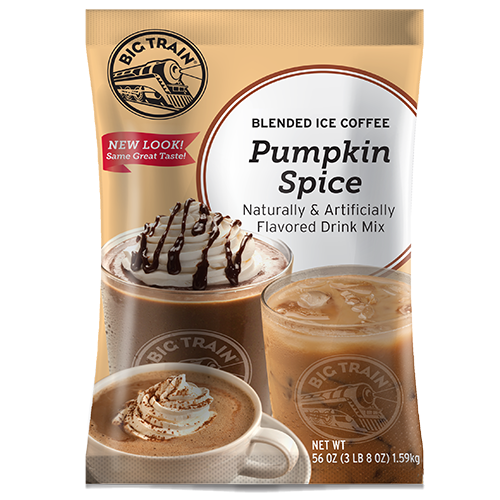 Big Train Pumpkin Spice Blended Ice Coffee Mix (3.5 lbs) - CustomPaperCup.com Branded Restaurant Supplies