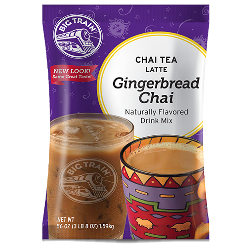 Big Train Gingerbread Chai Tea Latte Mix (3.5 lbs) - CustomPaperCup.com Branded Restaurant Supplies