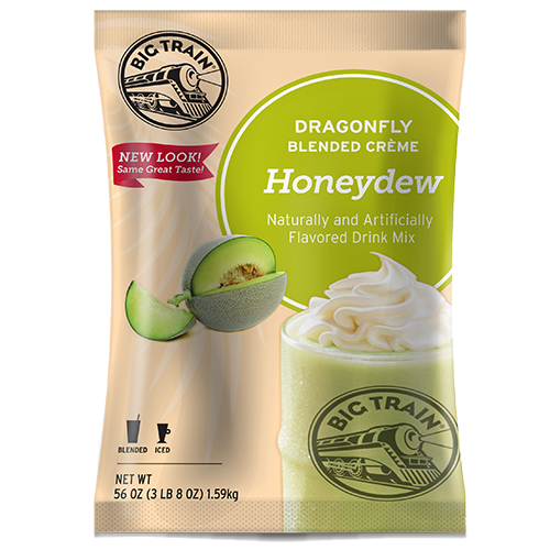 Big Train Dragonfly Honeydew Blended Crème Frappé Mix (3.5 lbs) - CustomPaperCup.com Branded Restaurant Supplies