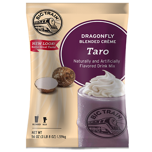 Big Train Dragonfly Taro Blended Crème Frappé Mix (3.5 lbs) - CustomPaperCup.com Branded Restaurant Supplies