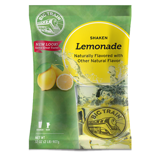Big Train Shaken Lemonade Mix (2 lbs) - CustomPaperCup.com Branded Restaurant Supplies