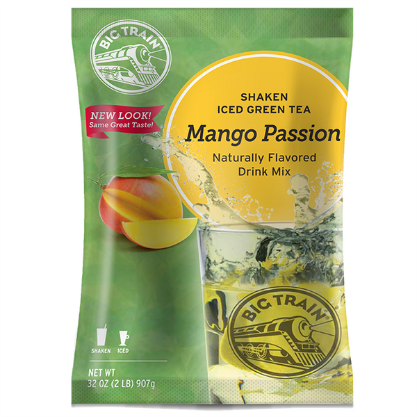 Big Train Mango Passion Shaken Iced Green Tea Mix (2 lbs) - CustomPaperCup.com Branded Restaurant Supplies