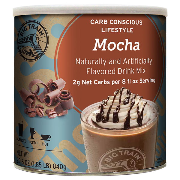 Big Train Low Carb Mocha Blended Ice Coffee Mix (1.85 lbs) - CustomPaperCup.com Branded Restaurant Supplies