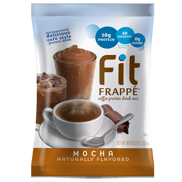Big Train Fit Frappé Protein Drink Mix Mocha (3 lbs) - CustomPaperCup.com Branded Restaurant Supplies