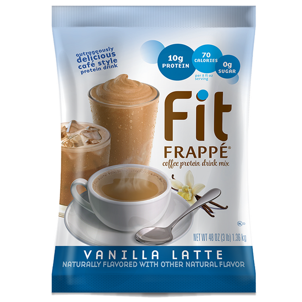 Big Train Fit Frappé Protein Drink Mix Vanilla Latte (3 lbs) - CustomPaperCup.com Branded Restaurant Supplies
