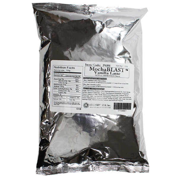 MochaBLAST Vanilla Latte Powder (2 lbs) - CustomPaperCup.com Branded Restaurant Supplies
