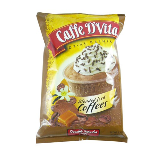 Caffe D'Vita Double Mocha Latte Blended Iced Coffee (3.5 lbs) - CustomPaperCup.com Branded Restaurant Supplies