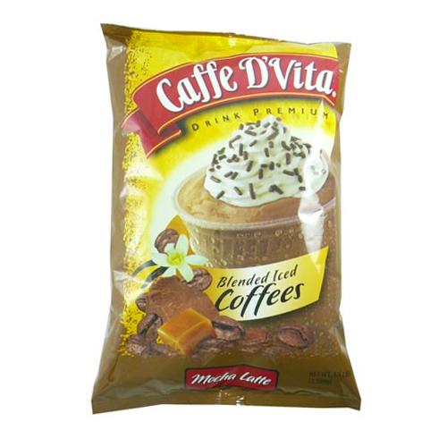 Caffe D'Vita Mocha Latte Blended Ice Coffee (3.5 lbs) - CustomPaperCup.com Branded Restaurant Supplies