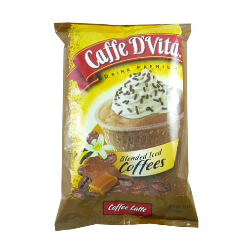 Caffe D'Vita Coffee Latte Blended Ice Coffee (3.5 lbs) - CustomPaperCup.com Branded Restaurant Supplies