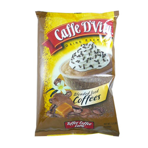 Caffe D'Vita Toffee Coffee Latte Blended Ice Coffee (3.5 lbs) - CustomPaperCup.com Branded Restaurant Supplies