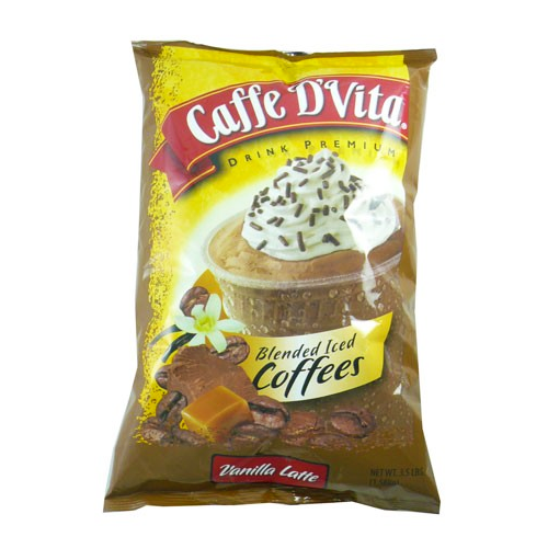 Caffe D'Vita Vanilla Latte Blended Ice Coffee (3.5 lbs) - CustomPaperCup.com Branded Restaurant Supplies