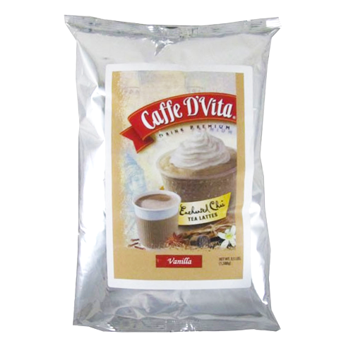 Caffe D'Vita Enchanted Chai Vanilla Tea Latte (3.5 lbs) - CustomPaperCup.com Branded Restaurant Supplies