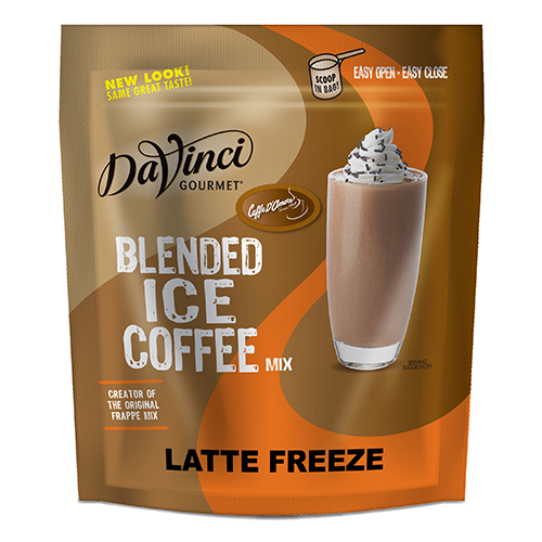 DaVinci Latte Freeze Blended Ice Coffee Mix (3 lbs) - Formerly Caffe D'Amore - CustomPaperCup.com Branded Restaurant Supplies