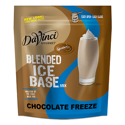 DaVinci Chocolate Freeze Frappe Base Mix (3 lbs) - Formerly Caffe D'Amore - CustomPaperCup.com Branded Restaurant Supplies