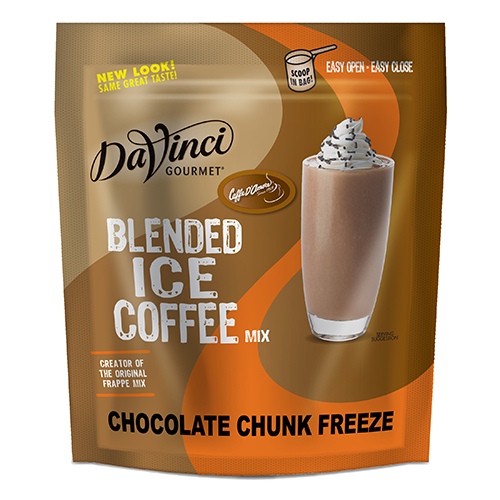 DaVinci Chocolate Chunk Freeze Blended Ice Coffee Mix (2.75 lbs) - Formerly Caffe D'Amore - CustomPaperCup.com Branded Restaurant Supplies