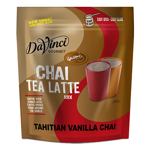 DaVinci Tahitian Vanilla Chai Latte Mix (3 lbs) - Formerly Caffe D'Amore - CustomPaperCup.com Branded Restaurant Supplies