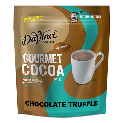 DaVinci Chocolate Truffle Gourmet Cocoa Mix (2 lbs) - Formerly Caffe D'Amore - CustomPaperCup.com Branded Restaurant Supplies
