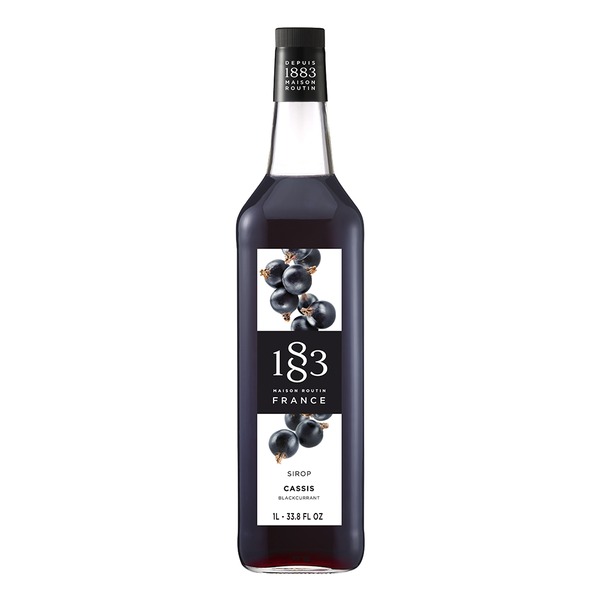 1883 Maison Routin Blackcurrant Syrup (1L) - CustomPaperCup.com Branded Restaurant Supplies