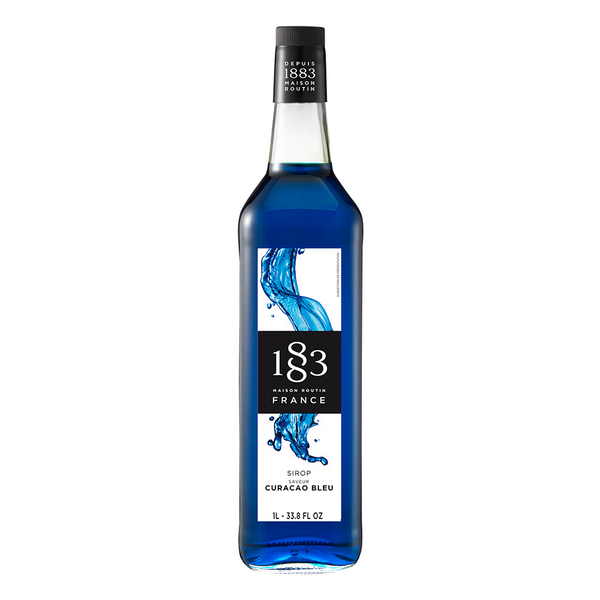 1883 Maison Routin Blue Curacao Syrup (1L) - CustomPaperCup.com Branded Restaurant Supplies