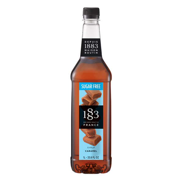1883 Maison Routin Sugar Free Caramel Syrup (1L) - CustomPaperCup.com Branded Restaurant Supplies