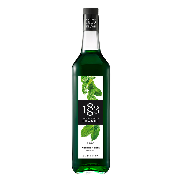1883 Maison Routin Green Mint Syrup (1L) - CustomPaperCup.com Branded Restaurant Supplies