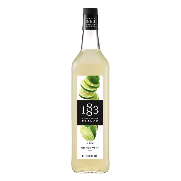 1883 Maison Routin Lime Syrup (1L) - CustomPaperCup.com Branded Restaurant Supplies