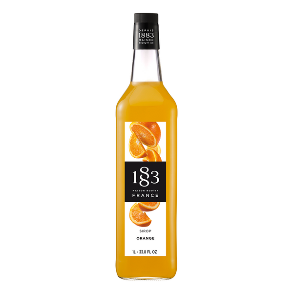 1883 Maison Routin Orange Syrup (1L) - CustomPaperCup.com Branded Restaurant Supplies