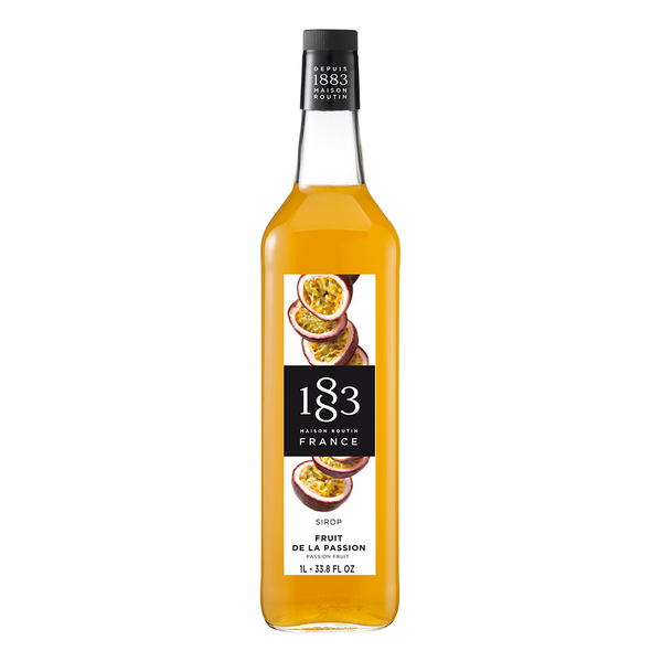 1883 Maison Routin Passion Fruit Syrup (1L) - CustomPaperCup.com Branded Restaurant Supplies
