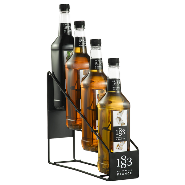 1883 Maison Routin Syrup Wire Rack (4 Bottles) - CustomPaperCup.com Branded Restaurant Supplies