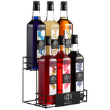 1883 Maison Routin Syrup Wire Rack (6 Bottles) - CustomPaperCup.com Branded Restaurant Supplies