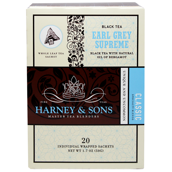 Harney & Sons Wrapped Earl Grey Supreme Tea - 6 Box Case - CustomPaperCup.com Branded Restaurant Supplies
